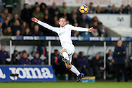 Gylfi Sigurdsson of Swansea city in action.Premier league match, Swansea city v West Ham United at the Liberty Stadium in Swansea, South Wales on Boxing Day, Monday 26th December 2016.<br /> pic by  Andrew Orchard, Andrew Orchard sports photography.