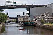 New York, Brookyn ,Gowanus canal, near smith street, industrial area, with  United states