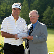 PGA Memorial Golf Tournament in Dublin, Ohio. Winner Kenny Perry and tournament host Jack Nicklaus.