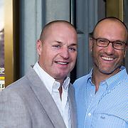 NLD/Amsterdam/20130903 - Inloop premiere Stiletto 2, Tony Neef en partner Benny