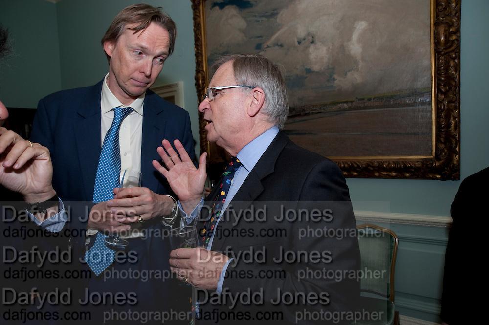 JAMES STOURTON; JEFFREY ARCHER, Nicholas Coleridge celebrates the publication of his novel; Deadly Sins. Dartmouth House, Charles St. London. 28 April 2009