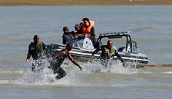 31/07/2018 - A marine poaching simulation during World Ranger Day, Darlington Dam in Addo Elephant National Park, Eastern Cape.<br /> Picture: Jacques Naude/African News Agency/ANA