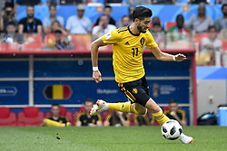 June 23, 2018 - Moscow, RUSSIA - Belgium's Yannick Carrasco fight for the ball during the second game of Belgian national soccer team the Red Devils against Tunisia national team in the Spartak stadium, in Moscow, Russia, Saturday 23 June 2018. Belgium won its first group phase game. BELGA PHOTO DIRK WAEM (Credit Image: © Dirk Waem/Belga via ZUMA Press)