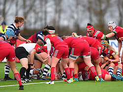 Bristol Bears Women come very close to scoring - Mandatory by-line: Paul Knight/JMP - 01/12/2018 - RUGBY - Shaftesbury Park - Bristol, England - Bristol Bears Women v Harlequins Ladies - Tyrrells Premier 15s
