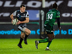 Cai Evans of Ospreys in action during todays match<br /> <br /> Photographer Simon King/Replay Images<br /> <br /> Guinness PRO14 Round 6 - Ospreys v Connacht - Saturday 2nd November 2019 - Liberty Stadium - Swansea<br /> <br /> World Copyright © Replay Images . All rights reserved. info@replayimages.co.uk - http://replayimages.co.uk