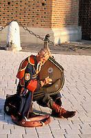 Street singer. Krakow. Poland