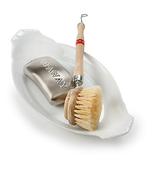 bath tools brush,scrubber ceramic tray