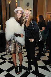 Left to right, LOUISE ROE and MELISSA ODABASH at the launch of the Claridge's Christmas Tree designed by John Galliano for Dior held at Claridge's, Brook Street, London on 1st December 2009.