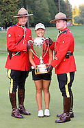 15 AUG 23  Korean teenage sensation Lydia KO celebrates with the RCMP on 18 after The Canadian Pacific Women's Open at The Vancouver Golf Club in Coquitlam, British Columbia, Canada.(photo credit : kenneth e. dennis/kendennisphoto.com)