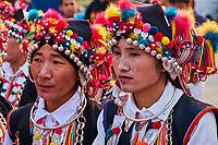 Chine, Province du Yunnan, region de Xishuangbanna, fête des femmes dans un village Hani // China, Yunnan, Xishuangbanna district, women festival in the Hani ethnic group village