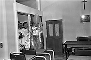 11/02/1963<br /> 02/11/1963<br /> 11 February 1963<br /> Official opening and Blessing of the National Medical Rehabilitation Centre, Our Lady of Lourdes Hospital, Rochestown Avenue, Dun Laoghaire, Co. Dublin. Archbishop John C. McQuaid conducting the Blessing of the building.