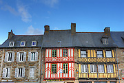 the old houses of Treguier, Brittany, Bretagne, France, Cotes d'Armor