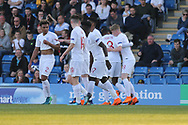 England celebrate first goal during the UEFA European Under 17 Championship 2018 match between England and Israel at Proact Stadium, Whittington Moor, United Kingdom on 4 May 2018. Picture by Mick Haynes.