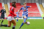 Readingmidfielder Rachel Rowe (23) controls the ball during the FA Women's Super League match between Manchester United Women and Reading LFC at Leigh Sports Village, Leigh, United Kingdom on 7 February 2021.
