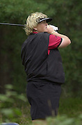 Friday 3rd August 2001..Laura Davies on the 13th tee.2001 Weetabix Women's Open, Sunningdale,..[Mandatory Credit Peter Spurrier/ Intersport Images]