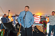 East Meadow, NY, USA. March 31, 2012. Firefighter Ray Pfeifer speaks at Fundraiser for Ray - battling cancer after months of recovery efforts at Ground Zero following 9/11 2001 Twin Towers attack - draws supporters from New York, Massachusetts and more, at East Meadow Firefighters Benevolent Hall.