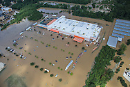 Flooding in Denham Springs Louisiana, following a record breaking rainfall leading to a 1000-year flood.