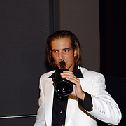 Premiere Snowfever, cast, Egbert Jan Weeber, drinkend champagne
