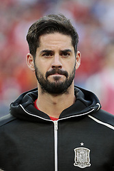 Spain national team player Isco during UEFA EURO 2020 Qualifier match between Spain and Sweden at Santiago Bernabeu Stadium in Madrid, Spain. June 10, 2019. Photo by A. Perez Meca/Alterphotos/ABACAPRESS.COM