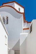 Marpissa, Paros, Greece - July 2021: Orthodox Church