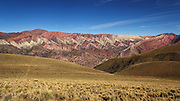"""The Mountains of Hornocal<br /> The mountain valley of Quebrada de Humahuaca, in the province of Jujuy, in north-west Argentina, is home to some fascinating geology. The Hill of Seven Colors and Painter's Palette in Maimará are famous, but most visitors leave the creek without knowing the mountains of Hornocal or """"Serranias del Hornocal"""". Located just 25 km from Humahuaca, along a well-graded unpaved road, this mountain range is definitely a must-see for anyone visiting Argentina, yet quite shockingly, this site left out of almost all the tourist circuits because of which Serranias del Hornocal remains unknown to most travelers on the road that leads to Humahuaca.<br /> ©AmazingPlanet/Exclusivepix"""