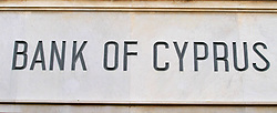 General View of the Bank of Cyprus in Nicosia 1st May 2012, Cyprus Bank Economy Banks. Photo By Imago/i-Images