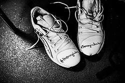 Panos Mayindombe of Bristol Flyers trainers - Photo mandatory by-line: Ryan Hiscott/JMP - 26/01/2020 - BASKETBALL - Arena Birmingham - Birmingham, England - Bristol Flyers v Worcester Wolves - British Basketball League Cup Final