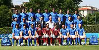 Coverciano 25/5/2006 Foto ufficiale della nazionale italiana in vista dei mondiali di Germania 2006<br /> <br /> Prima fila in alto:<br /> <br /> Barone, Barzagli, Materazzi, Nesta, Iaquinta, Toni, Gilardino, Oddo, ZAccardo.<br /> <br /> Fila centrale: Gattuso, CAmoranesi, Perrotta, Riva, Lippi, Abete, Zambrotta, Grosso<br /> <br /> Seduti: Pirlo, Inzaghi, Totti, Amelia, Buffon, Peruzzi, Del Piero, Cannavaro, De Rossi<br /> <br /> Photo Andrea Staccioli Graffitipress