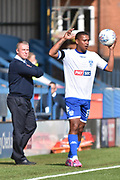 Bury Midfielder, Chris Humphrey (17) and Bury Manager, Lee Clark  during the EFL Sky Bet League 1 match between Bury and Bristol Rovers at the JD Stadium, Bury, England on 19 August 2017. Photo by Mark Pollitt.