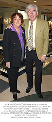MR & MRS TOM O'CONNOR he is the tv presenter, at a reception in London on 11th March 2003.PHW 84
