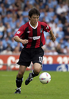 Copyright Sportsbeat. 0208 8768611<br />Picture: Henry Browne<br />Date: 2/08/2003<br />Oldham Athletic v Manchester City pre season friendly<br />Sunb Jihai of City in the first half