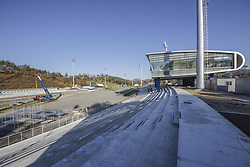 October 30, 2017 - Pyeongchang, Gangwon, South Korea - Oct 30, 2017-Pyeongchang, South Korea-A Shows Construction continues at the Alpensia Biathlon Skiing Centre, venue for Cross County and Nordic Combined skiing for the PyeongChang 2018 Winter Olympic Games on October 30, 2017 in Pyeongchang, South Korea. (Credit Image: © Ryu Seung Il via ZUMA Wire)