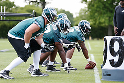 Philadelphia Eagles guard Josh Andrews #68 during the NFL football rookie camp at the teams practice facility on Saturday, May 17, 2014. (Photo by Brian Garfinkel)