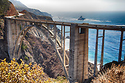 Bixby Bridge on the Coast of Big Sur From the Northeast