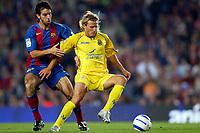 Fotball<br /> Foto: imago/Digitalsport<br /> NORWAY ONLY<br /> <br /> 22.05.2005  <br /> <br /> Diego Forlan (Villarreal, re.) gegen Oleguer Presas Renom (FC Barcelona)