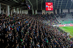 Supporters during football match between National teams of Slovenia and England in Round #3 of FIFA World Cup Russia 2018 Qualifier Group F, on October 11, 2016 in SRC Stozice, Ljubljana, Slovenia. Photo by Vid Ponikvar / Sportida