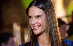 Model Alessandra Ambrosio on the backstage during the London Fashion Week SS18 show held at No 1 Invicta Plaza, London
