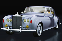 The 1963 Rolls Royce Silver Cloud III symbolises wealth and power. All over the world this 1963 Rolls Royce Silver Cloud III can be found moon the steering wheel a driver who drives high representatives or chic ladies. British phlegm on four wheels can also be called this Rolls Royce.<br /> <br /> This painting of a Rolls Royce Silver Cloud III from 1963 can be printed very large on different materials.