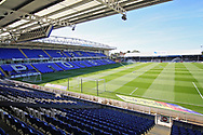 General view inside the Abax Stadium before the EFL Sky Bet League 1 match between Peterborough United and Blackpool at The Abax Stadium, Peterborough, England on 29 September 2018.