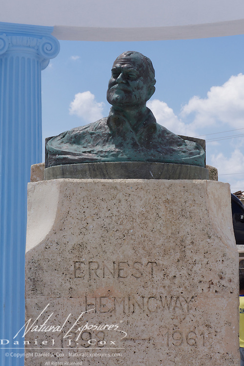 A monument to Ernest Hemingway in Terrazas, a small seaside fishing  community in Cojimar, Cuba