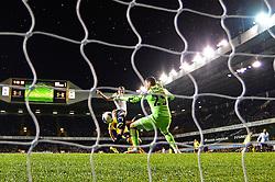 Tottenham's forward Harry Kane scores a goal past Sunderland's goalkeeper Vito Mannone   - Photo mandatory by-line: Mitchell Gunn/JMP - Tel: Mobile: 07966 386802 07/04/2014 - SPORT - FOOTBALL - White Hart Lane - London - Tottenham Hotspur v Sunderland - Premier League