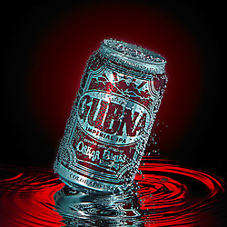Oskar Blues Gubna can on water
