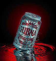 Oskar Blues Gubna can on water