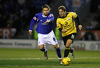 Photo: Pete Lorence.<br />Leicester City v Barnsley. Coca Cola Championship. 16/12/2006.<br />Brian Howard charges through the midfield, chased by Gareth Williams.