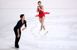 04.12.2015, Dom Sportova, Zagreb, CRO, ISU, Golden Spin of Zagreb, freies Programm, Paare, im Bild Marissa Castelli - Mervin Tran, USA. // during the 48th Golden Spin of Zagreb 2015 doubles Free Program of ISU at the Dom Sportova in Zagreb, Croatia on 2015/12/04. EXPA Pictures © 2015, PhotoCredit: EXPA/ Pixsell/ Igor Kralj<br /> <br /> *****ATTENTION - for AUT, SLO, SUI, SWE, ITA, FRA only*****