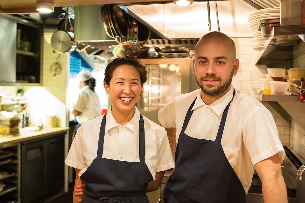 Chef-owners Pamela Yung and Jose Ramirez-Ruiz in the kitchen at Semilla.