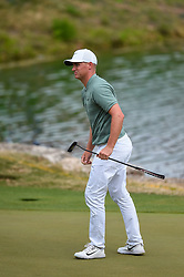 March 24, 2018 - Austin, TX, U.S. - AUSTIN, TX - MARCH 24: Alex Noren watches a putt during the quarterfinals of the WGC-Dell Technologies Match Play on March 24, 2018 at Austin Country Club in Austin, TX. (Photo by Daniel Dunn/Icon Sportswire) (Credit Image: © Daniel Dunn/Icon SMI via ZUMA Press)