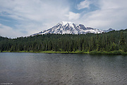Mt Rainer in afternoon at Reflection Lake.