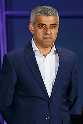 © Licensed to London News Pictures. 07/05/2016. London, UK. London Mayoral candidate SADIQ KHAN reacting to announcement of his election victory at City Hall in London on Saturday, 7 May 2016. Labour MP Sadiq Khan has declared his victory and accused his Conservative counterpart, Zac Goldsmith MP of using underhand tactics during the campaign. Photo credit: Tolga Akmen/LNP