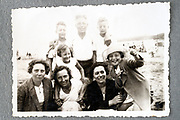 family summer vacation at at the coast ca 1950s Netherlands